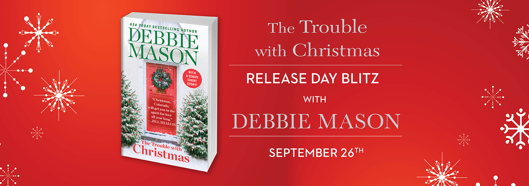 win 1 of 15 free ebook downloads of The Trouble with Christmas!