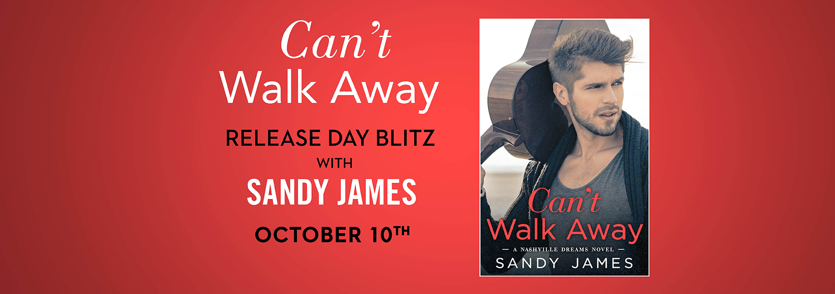 Enter to win 1 of 15 free ebook downloads of Can't Walk Away!